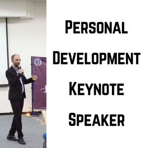 personal development keynote speaker cover