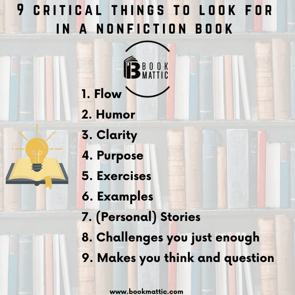 critical things to look for in a nonfiction book cover