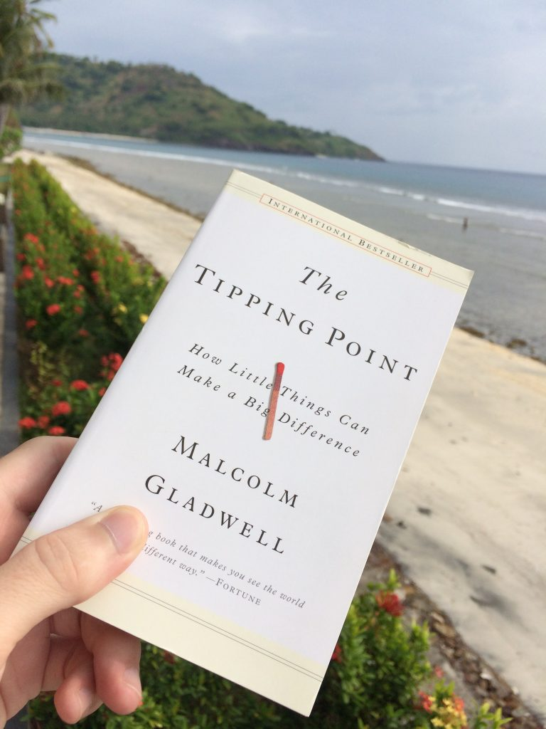 marketing points from the tipping point book hanging over the ocean